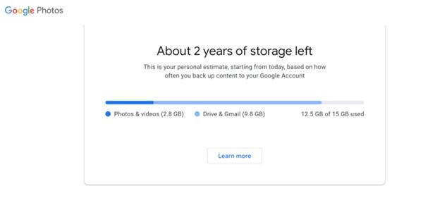 谷歌将在明年淘汰Google照片上的无限存储空间