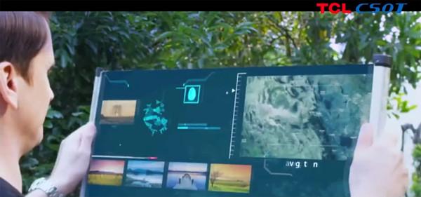TCL嘲笑17英寸平板电脑 像卷轴一样展开