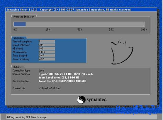 自动覆盖C盘重装XP系统