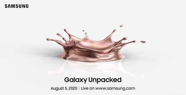三星将在8月5日将Unpacked设置为新版Galaxy Note